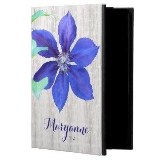 庭の新しい紫色クレマチスの花 POWIS iPad AIR 2 ケース