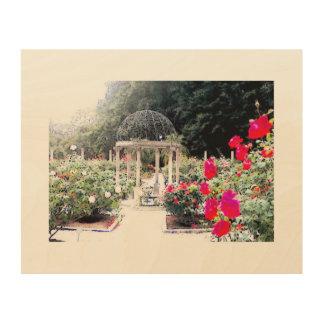 庭の望楼 ウッドウォールアート