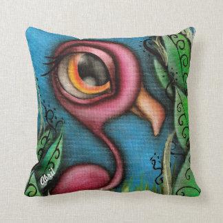 庭の枕のフラミンゴ クッション