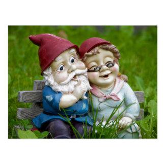 庭の格言のカップルの郵便はがき ポストカード