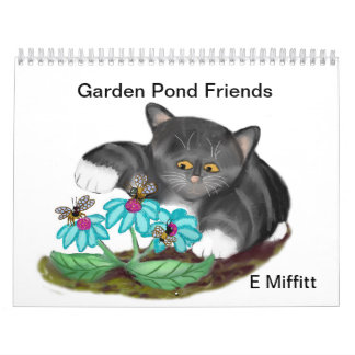 庭の池の友人-カスタムによって印刷されるカレンダー カレンダー