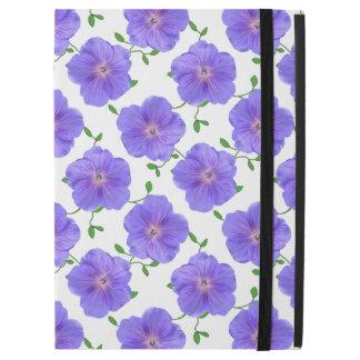 """庭の色の青いゼラニウムの花 iPad PRO 12.9"""" ケース"""