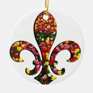 庭の花のチューリップの(紋章の)フラ・ダ・リオルレアン セラミックオーナメント
