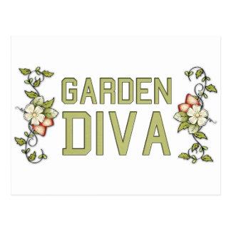 庭の花型女性歌手 ポストカード