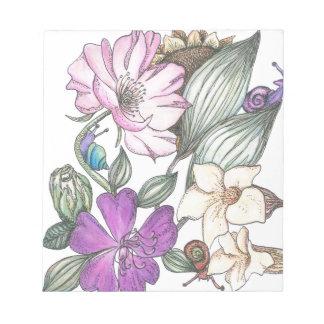 庭の花 ノートパッド
