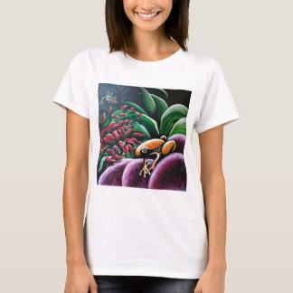 庭の葉のカエル Tシャツ