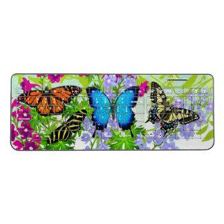 庭の蝶によっては無線キーボードが開花します ワイヤレスキーボード