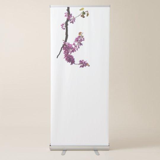 庭の開花のredbudのsiliquastrum 伸縮バナー