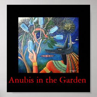 庭のAnubis ポスター
