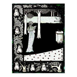 庭のLaのBealeイゾルデの読書 ポストカード