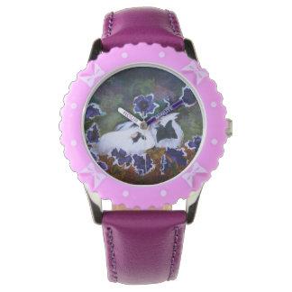 庭のPiggies 腕時計