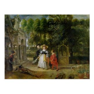 庭のRubensおよびヘレンFourment ポストカード