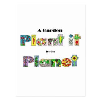 庭は、惑星のためのそれを、earthdayスローガン植えます ポストカード