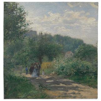 庭を通る歩行 ナプキンクロス