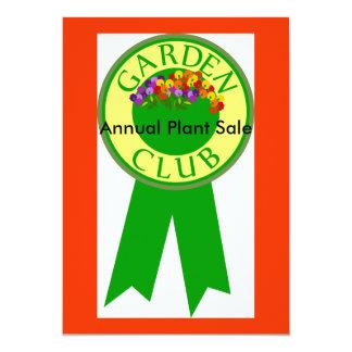 庭クラブ、植物販売の発表 カード