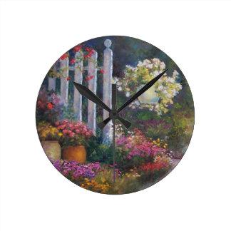 庭ゲート ラウンド壁時計