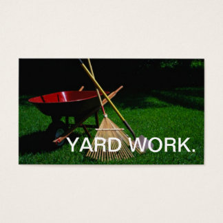 庭仕事の名刺 名刺