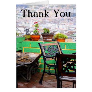 庭台地は感謝していしています カード