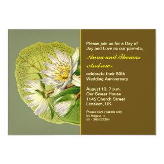 庭園の結婚式記念日 カード