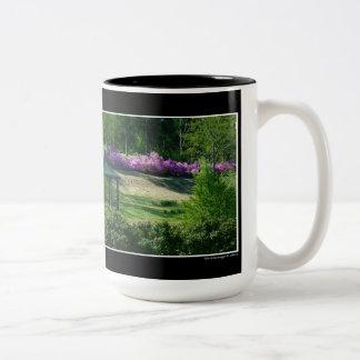 庭場面 ツートーンマグカップ