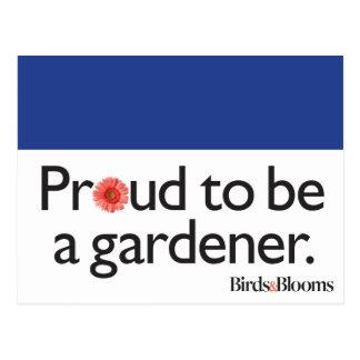 庭師があること誇りを持った ポストカード