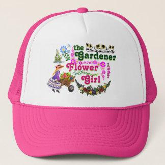 庭師のフラワー・ガールのトラック運転手の帽子! キャップ