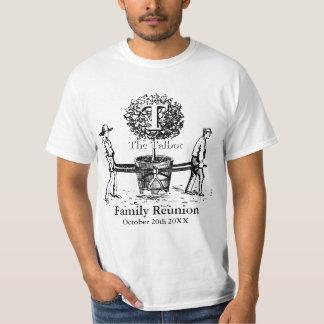 庭師の家族会の白いティーの名前をカスタムする Tシャツ