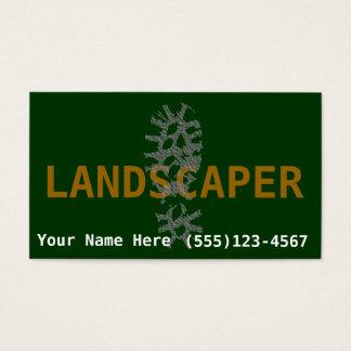 庭師の造園はビジネスを促進します 名刺