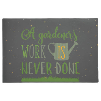 庭師は決してされたドア・マットを働かせません ドアマット
