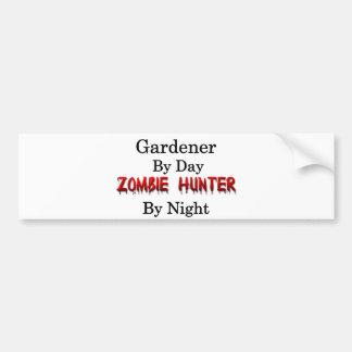 庭師またはゾンビのハンター バンパーステッカー