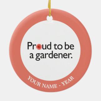 庭師2があること誇りを持った セラミックオーナメント
