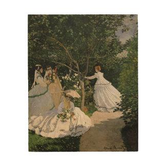 庭1866年のクロード・モネ|の女性 ウッドウォールアート