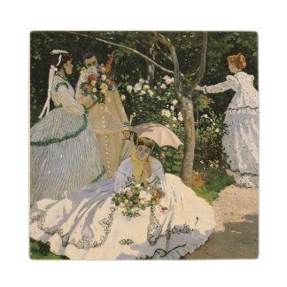 庭1866年のクロード・モネ|の女性 ウッドコースター