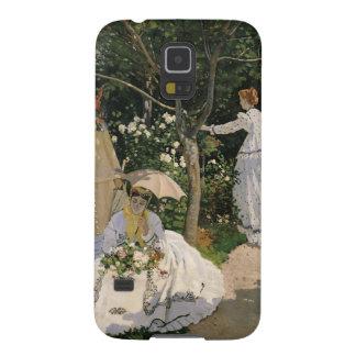 庭1866年のクロード・モネ|の女性 GALAXY S5 ケース