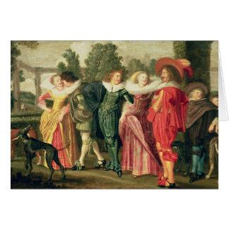 庭、c.1623の遊歩道 カード