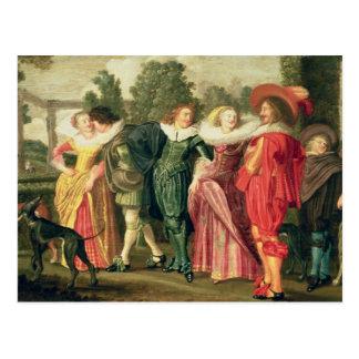 庭、c.1623の遊歩道 ポストカード
