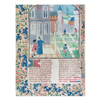 庭、「Le Livre des'からのイラストレーション ポストカード