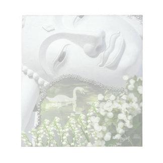 庭- Quanのイン及び花 ノートパッド