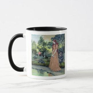 庭(w/c)の若い女の子 マグカップ