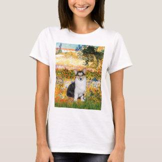 庭Fiorito -三色のウェルシュコーギー10 Tシャツ