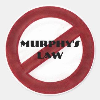 廃止のマーフィーの法律のステッカー ラウンドシール