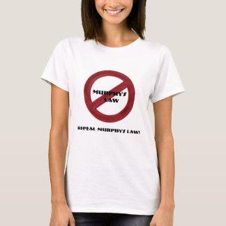 廃止のマーフィーの法律のTシャツの女性 Tシャツ
