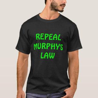 廃止のマーフィーの法律メンズTシャツ Tシャツ