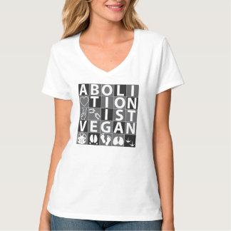 廃止論者のビーガンのTシャツ Tシャツ