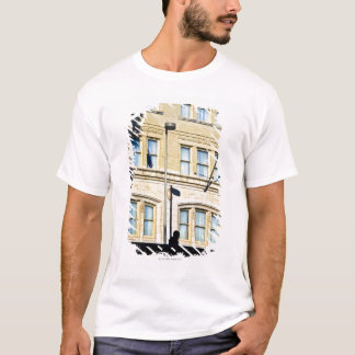 建物から、サン・アントニオつるす、旗 Tシャツ