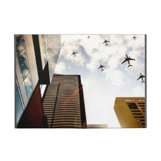建物に飛ぶ飛行機 iPad MINI ケース