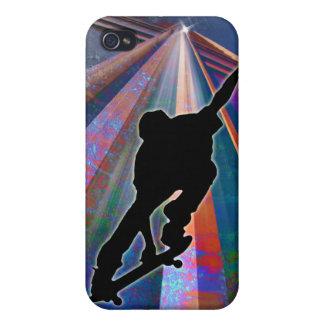 建物光線のスケートボード iPhone 4 ケース