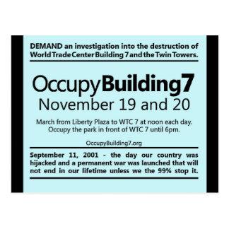 建物7の世界貿易センター抗議のフライヤを占めて下さい ポストカード