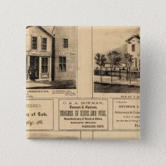 建物、油都市、フランクリンのTarrの農場 5.1cm 正方形バッジ