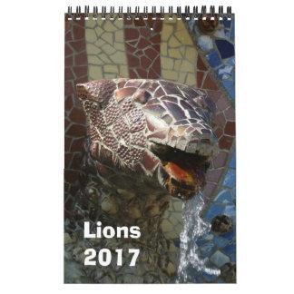 建築のカレンダー2017年のライオン カレンダー
